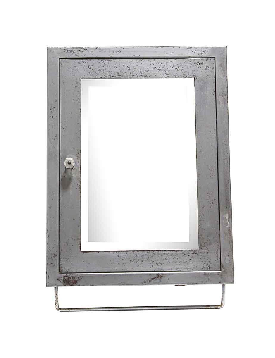 Steel Corner Medicine Cabinet With Beveled Mirror Olde Good Things