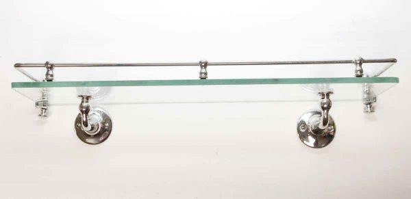 Bathroom - Vintage Glass & Chrome Plated Brass Wall Shelf