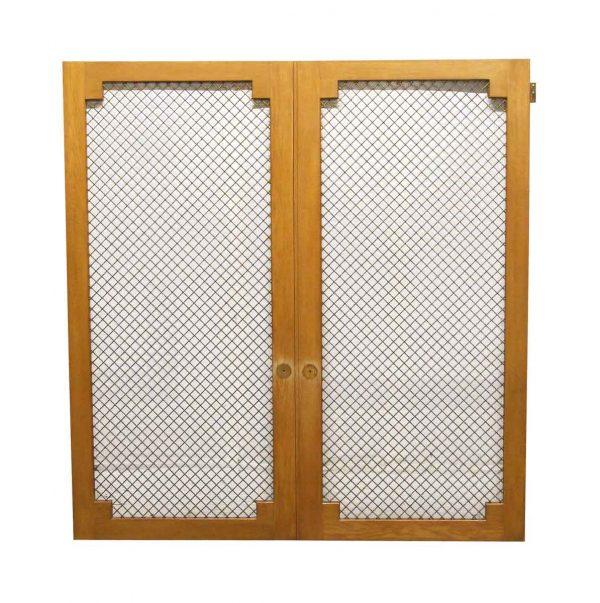 Cabinet Doors - Reclaimed Grated Wooden Cabinet Doors 62.75 x 60