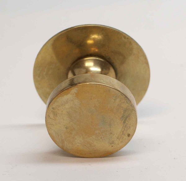 Cabinet & Furniture Knobs - Vintage Brass Round Flat Top Cabinet Knob with Rosette