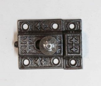 Antique Hammered Black Cabinet Latch 2 Peice.