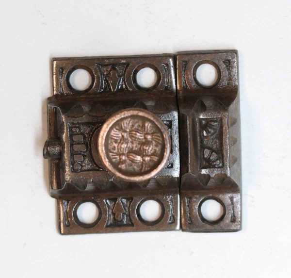 Cabinet & Furniture Latches - Windsor Pattern Cast Iron Cabinet Latch with Bronze Knob