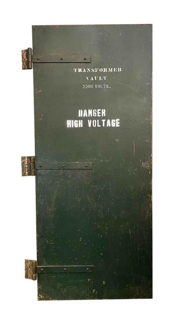 Commercial Doors - Industrial Transformer Vault Green Steel Door 84 x 36