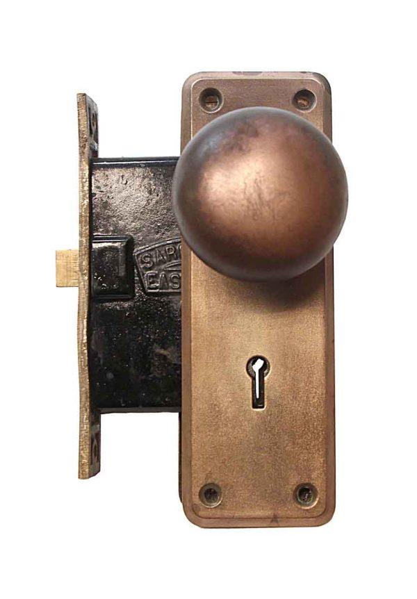 Door Knob Sets - Copper Plated Cast Iron Passage Door Knob & Lock Set
