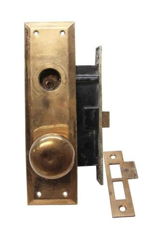 """1890/'s Antique DOOR HINGES 4/"""" x 4/"""" Ball Top VICTORIAN Style Brass Finish ORNATE"""