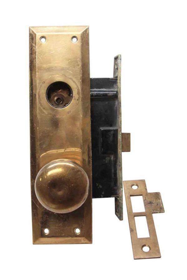 Door Knob Sets - Vintage Classic Brass Entry Door Knob Set