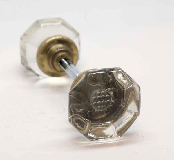 Door Knobs - Glass Round Top Octagon Door Knobs with Control Bubbles