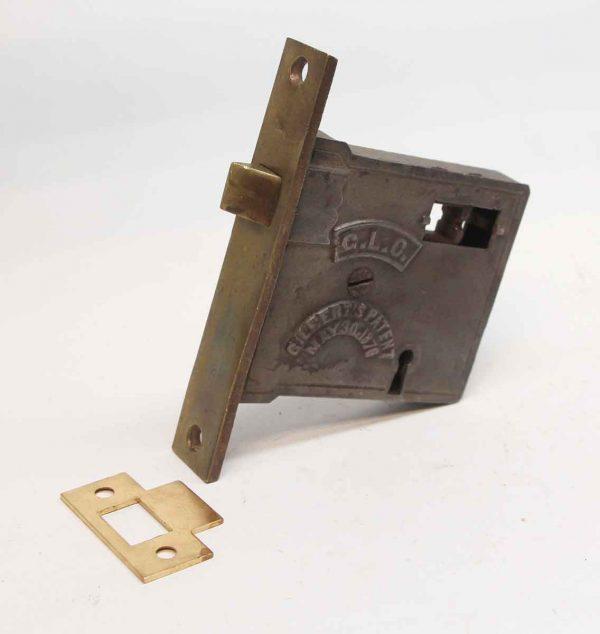 Door Locks - Antique Gilberts Brass & Cast Iron Passage Door Lock