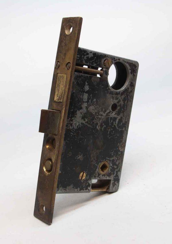 Door Locks - Antique National Brass & Cast Iron Store Door Thumb Latch Lock