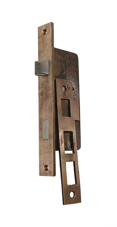 Door Locks - Bronze Narrow Backset Door Mortise Lock