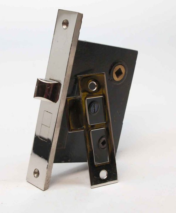 Door Locks - Cast Iron & Chrome Communicating Door Mortise Lock