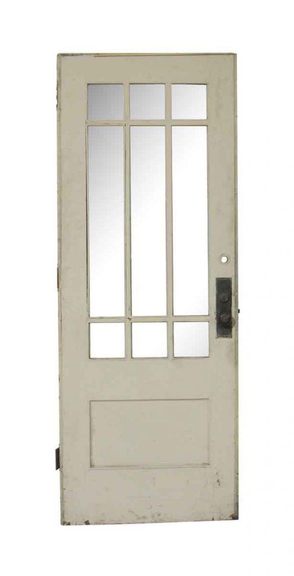 Entry Doors - Vintage White 9 Lite Wood Entry Door 78 x 30