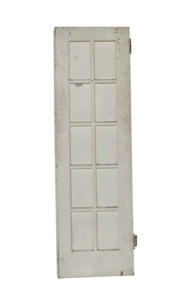 French Doors - Antique 10 Lite White French Door 79 x 24.5