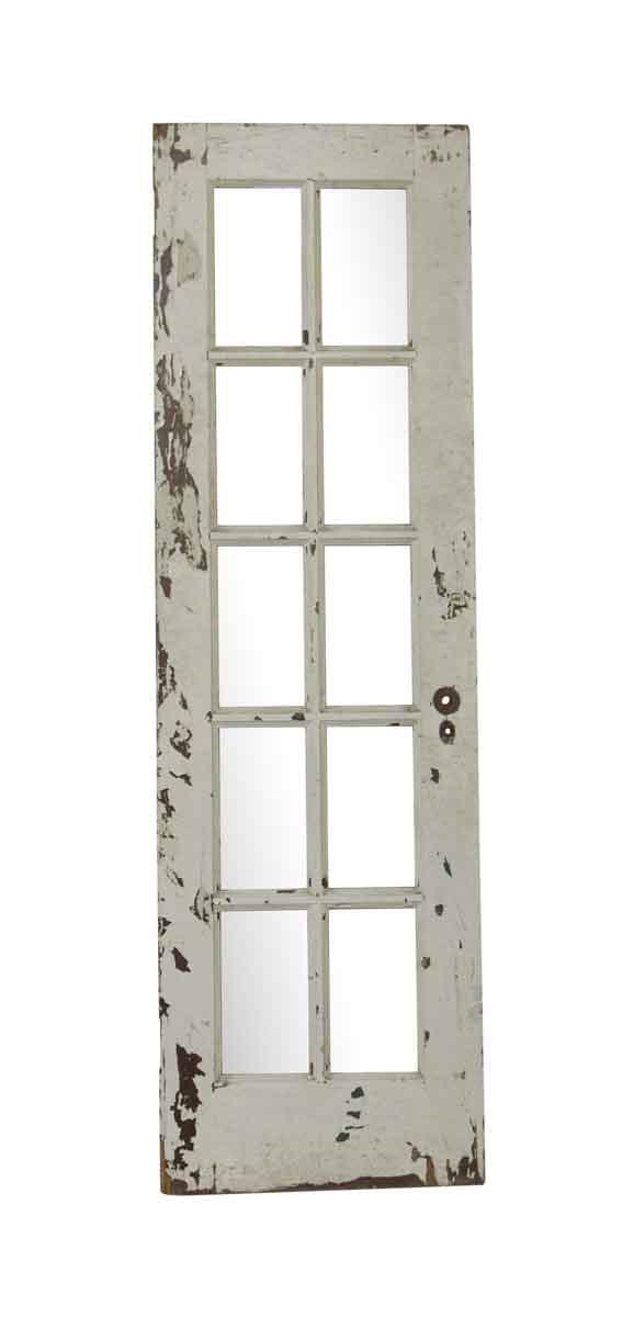 French Doors - Antique 10 Vertical Lite White French Door 79.125 x 24