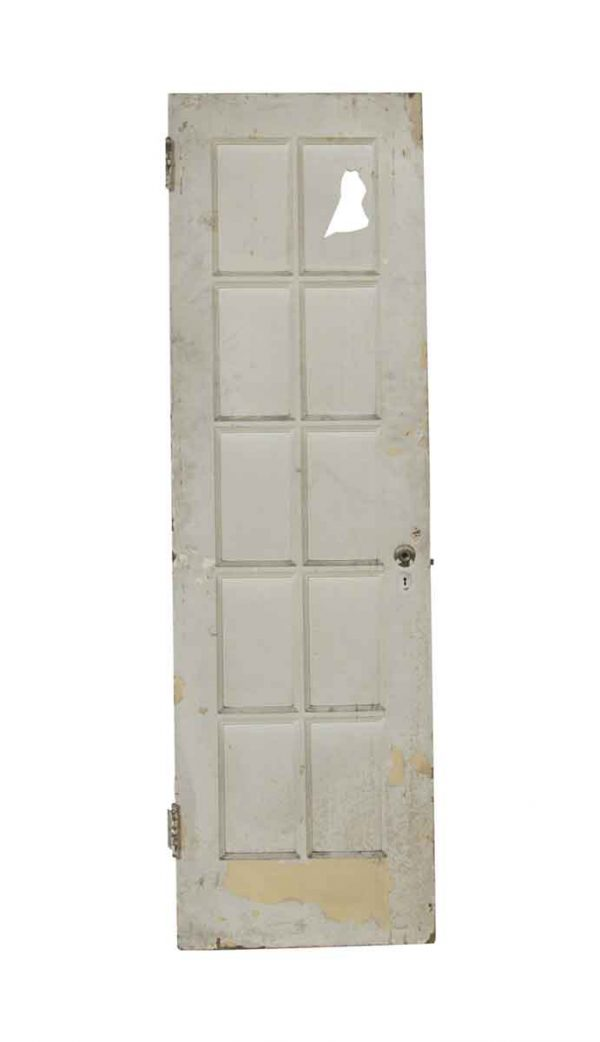 French Doors - Vintage 10 Lite White French Door 79.375 x 23.75