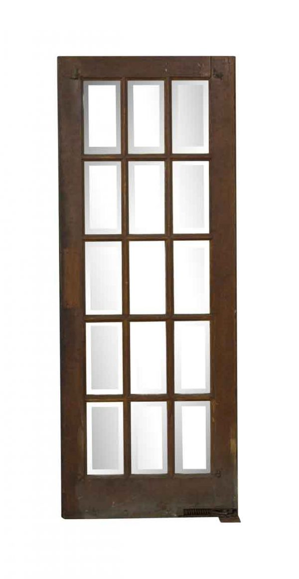 French Doors - Vintage 15 Beveled Lite Swinging French Door 77.75 x 29.75
