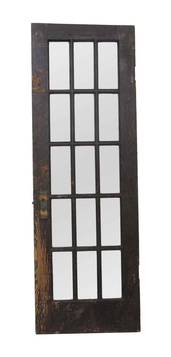 French Doors - Vintage 15 Lite Wood French Door 76.75 x 26