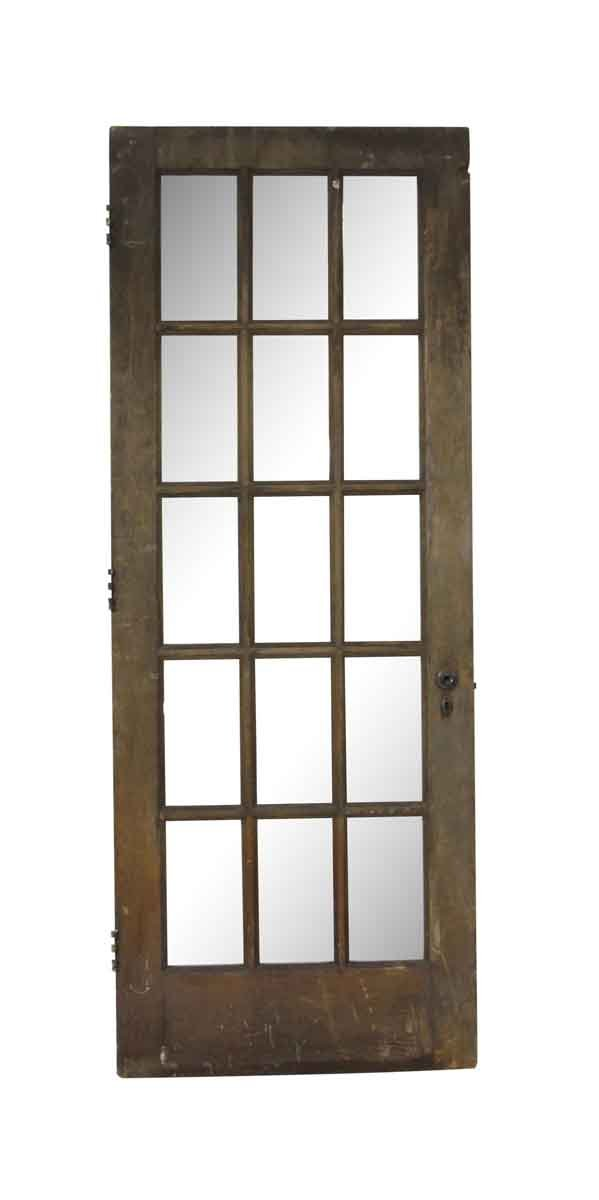 French Doors - Vintage 15 Lite Wood French Door 83.75 x 31.75
