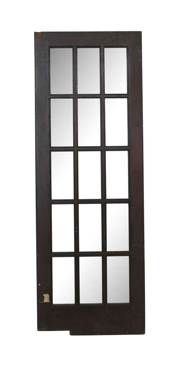 French Doors - Vintage 15 Lite Wood Swinging French Door 83.5 x 29.75