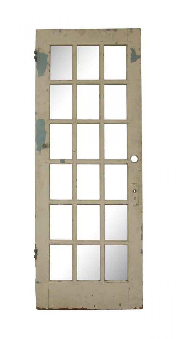 French Doors - Vintage 18 Lite Wood French Door 89 x 33.875