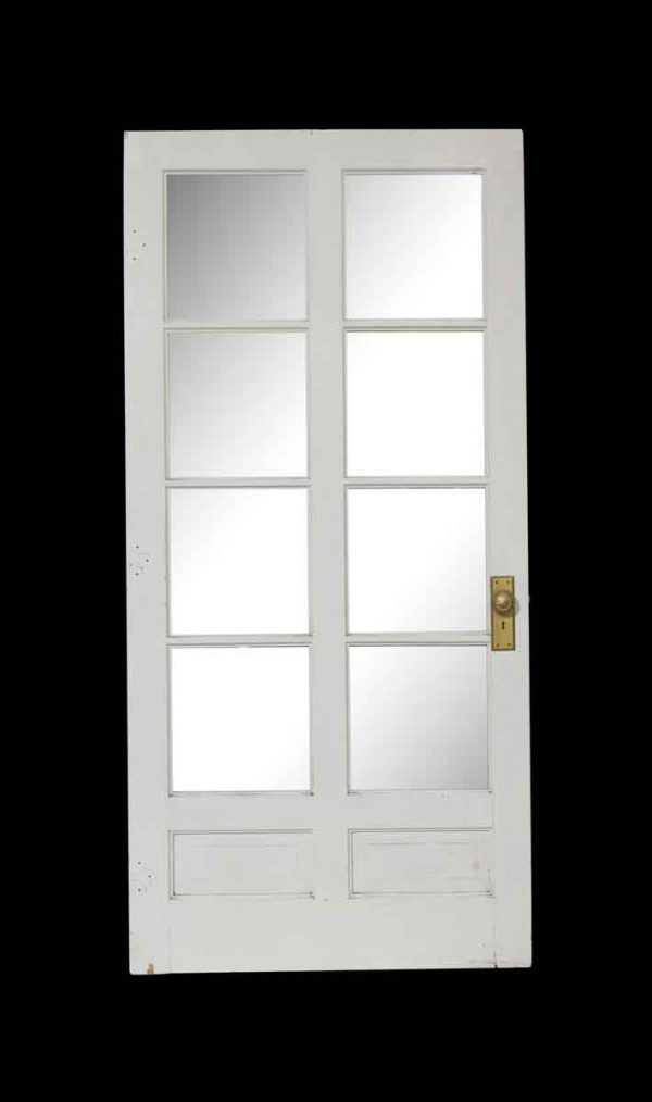 French Doors - Vintage 8 Square Lite White French Door 79.25 x 37.875