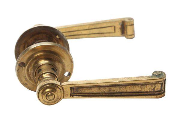 Levers - Vintage Polished Bronze Lever Door Knob Set