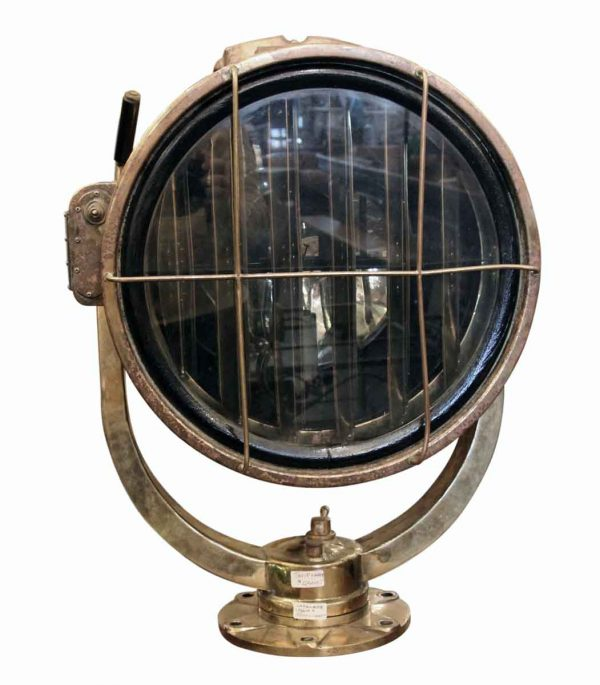 Nautical Lighting - Old Brass Ship Signal Surface Mount Light