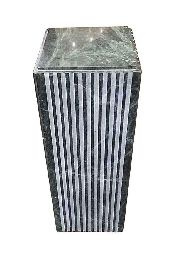 Pedestals - Green Veined Marble 30 in. H Pedestal