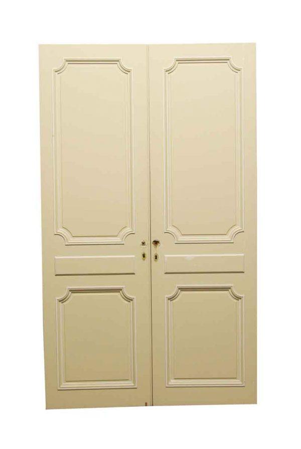 Standard Doors - Vintage 2 Panel White Closet Double Doors 80.625 x 48.375