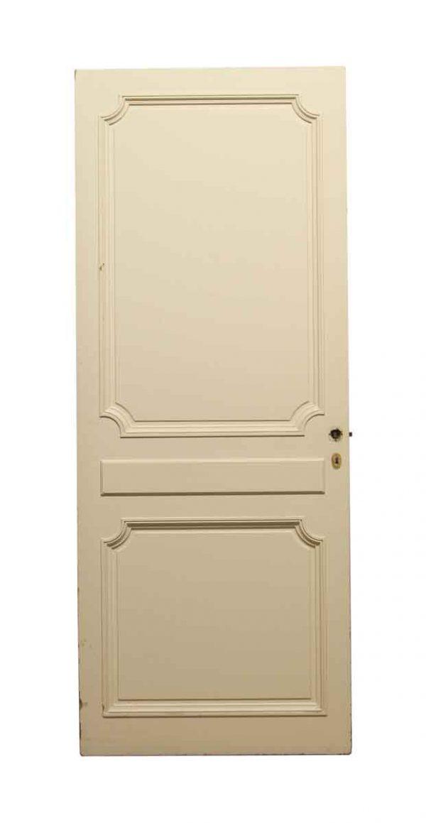 Standard Doors - Vintage 2 Panel White Wood Closet Door 80 x 31.75