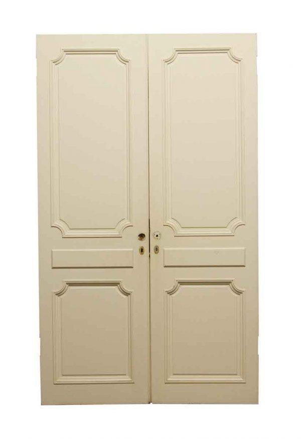 Standard Doors - Vintage White 2 Panel Closet Double Doors 81.5 x 48.25