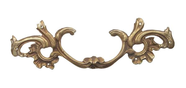 Cabinet & Furniture Pulls - Antique French Provincial Polished Brass Drawer Pull