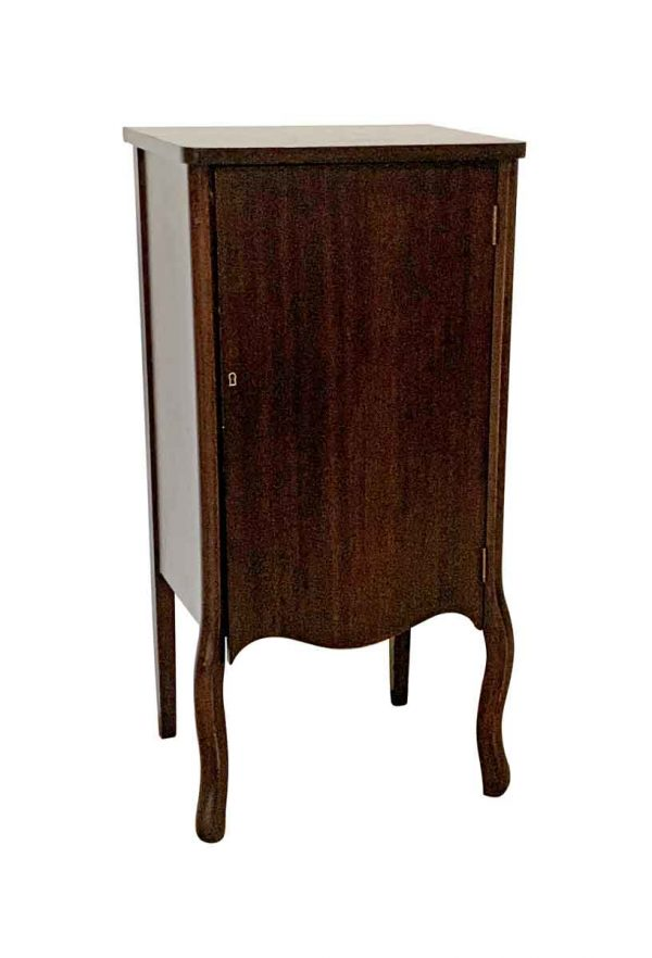 Cabinets - Antique Refinished Traditional Walnut Music Cabinet
