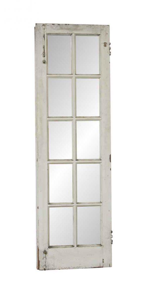 French Doors - Vintage 10 Lite Wood French Door 80 x 24.875