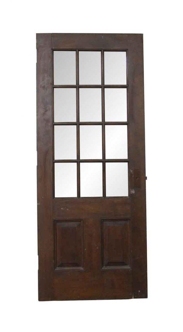 French Doors - Vintage 12 Lite Wood French Door 83.5 x 34
