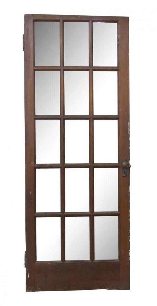 French Doors - Vintage 15 Lite Wood French Door 77.75 x 29.5
