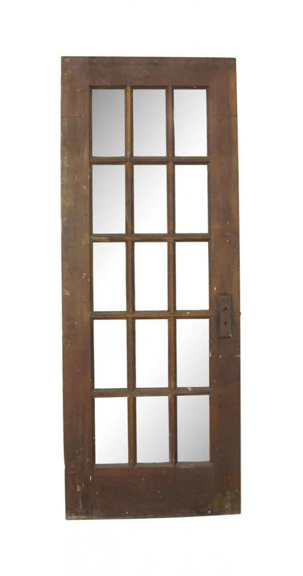 French Doors - Vintage 15 Lite Wood French Door 77.75 x 29.875