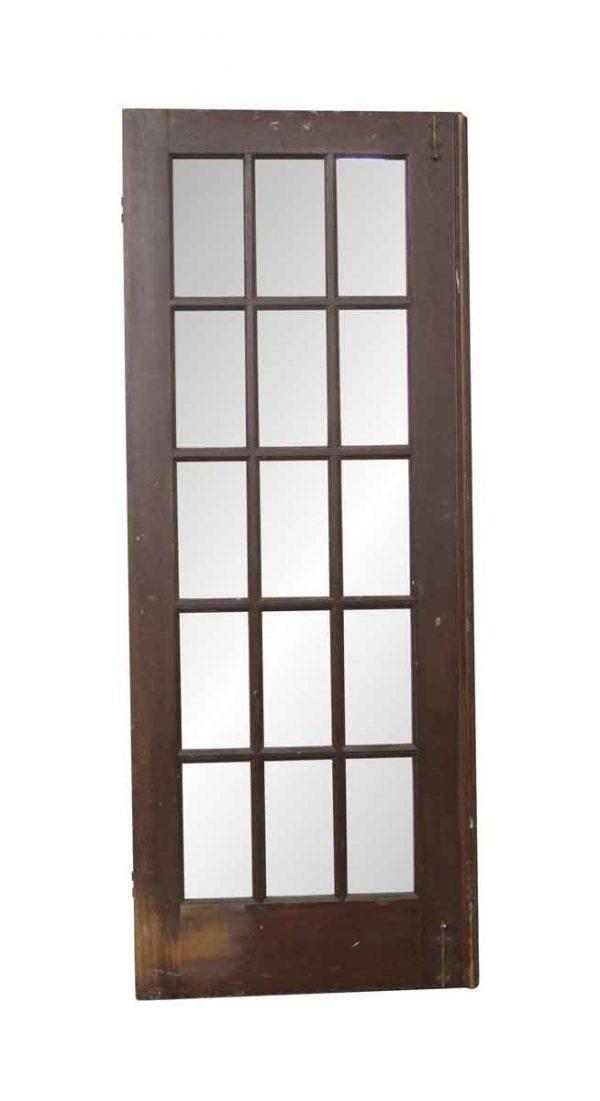 French Doors - Vintage 15 Lite Wood French Door 78.375 x 30.25