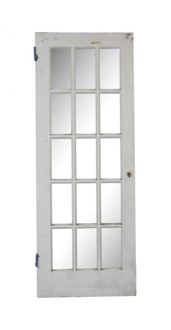 French Doors - Vintage 15 Lite Wood French Door 79.375 x 29.875