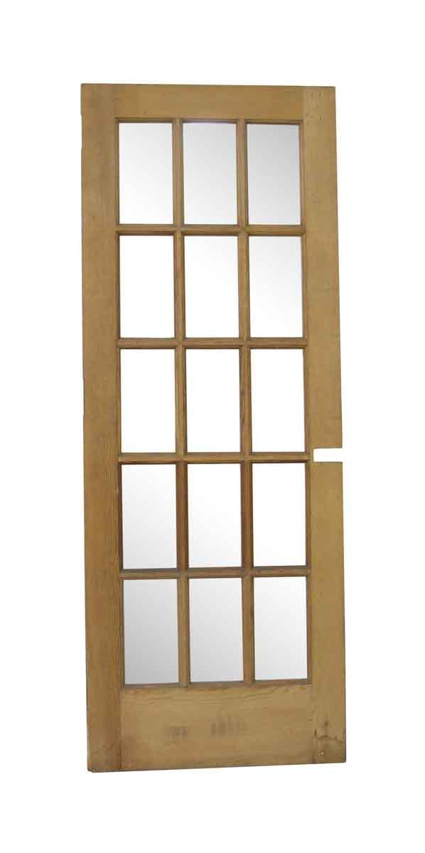 French Doors - Vintage 15 Lite Wooden French Door 77.75 x 29.5