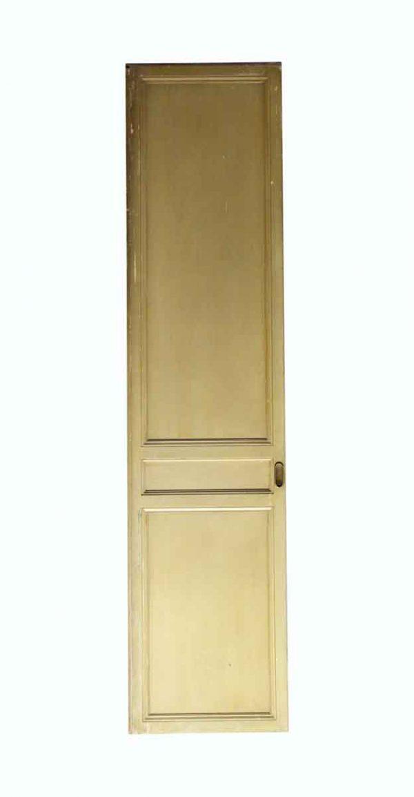 Pocket Doors - Vintage 3 Panel Wood Tan Pocket Door 83.75 x 19.75