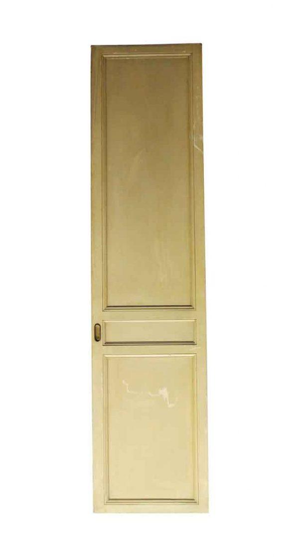 Pocket Doors - Vintage 3 Panel Wood Tan Pocket Door 83.75 x 20.25
