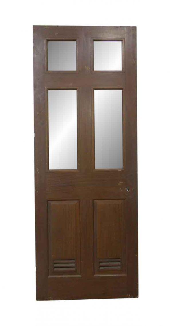 Specialty Doors - Vintage 4 Lite 2 Vented Panel Passage Door 79.25 x 29.625
