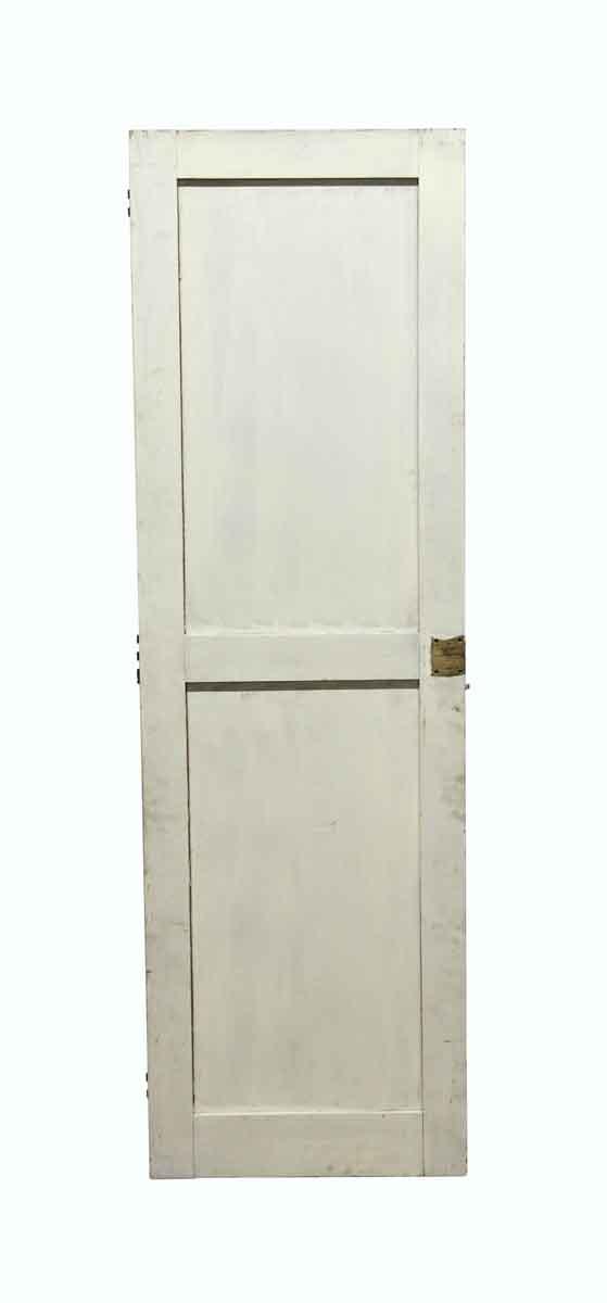 Standard Doors - Vintage 2 Panel White Wood Door 60.75 x 18.75