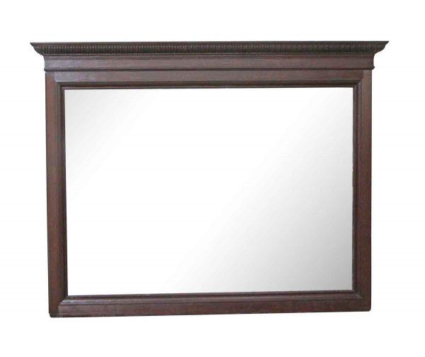 Wood Molding Mirrors - Antique Egg & Dart Mahogany Overmantel Mirror 52.5 x 67.5