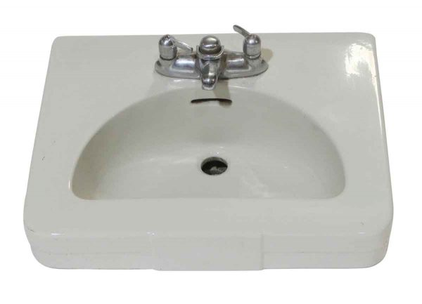 Bathroom - 1950 Vintage 24.25 in. White Porcelain Wall Sink