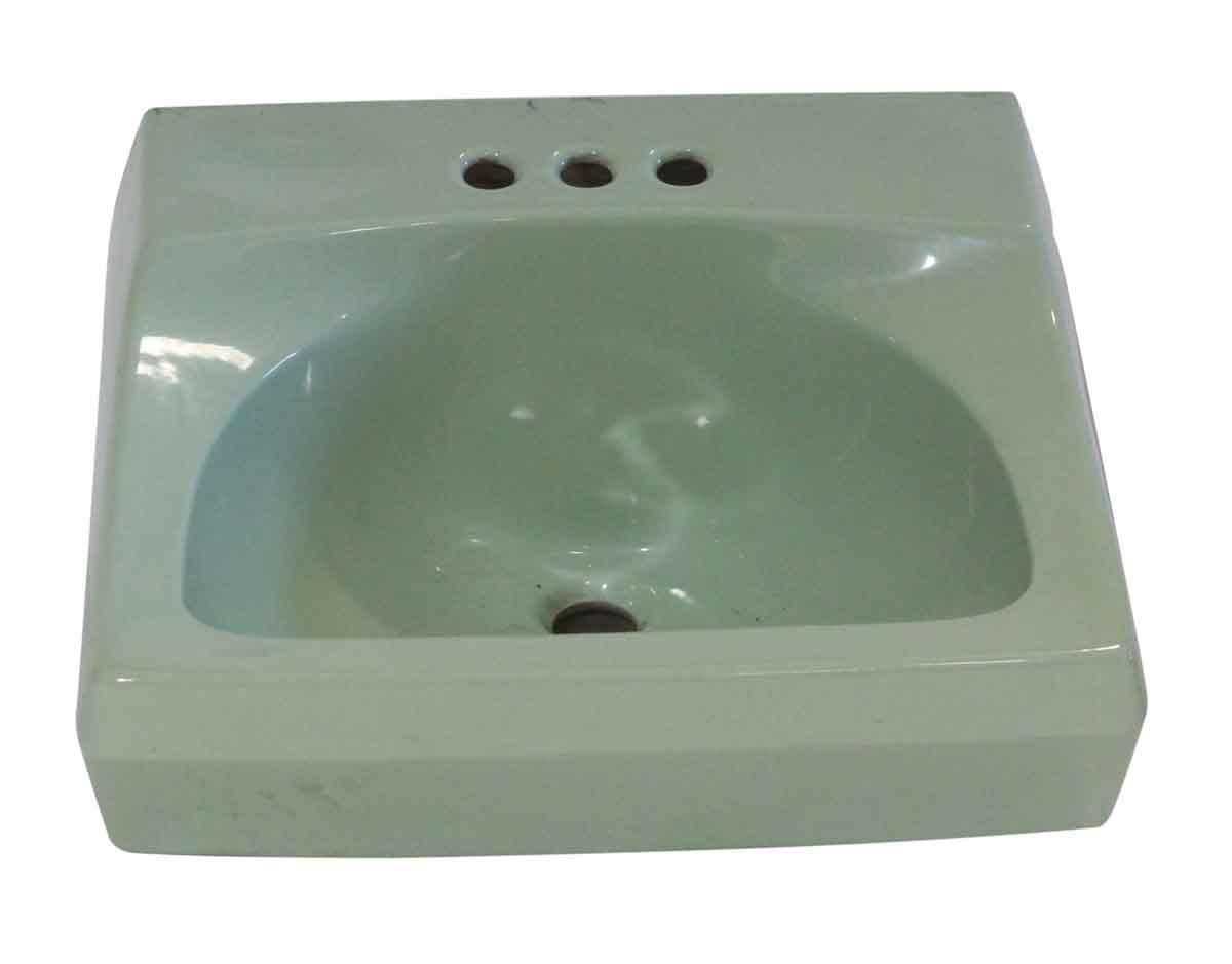 1950s Vintage 20 In Green Porcelain Sink Olde Good Things