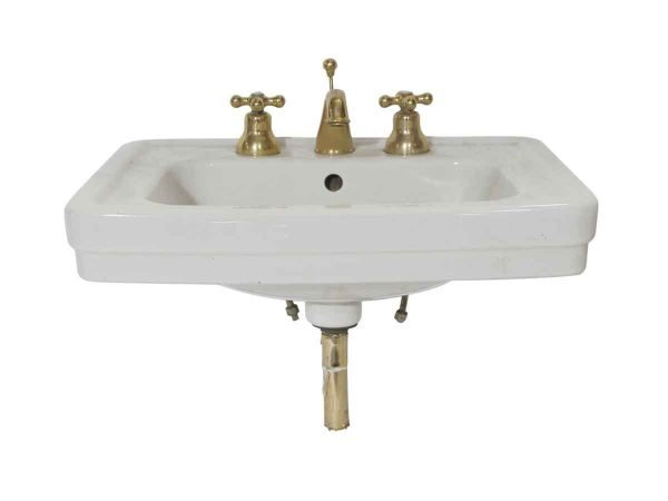 Bathroom - Vintage 23 in. Sbordoni White Porcelain Sink