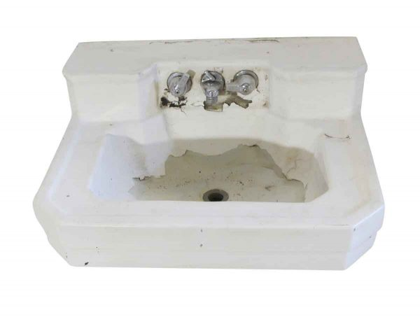 Bathroom - Vintage 24 in. Salvaged White Porcelain Sink