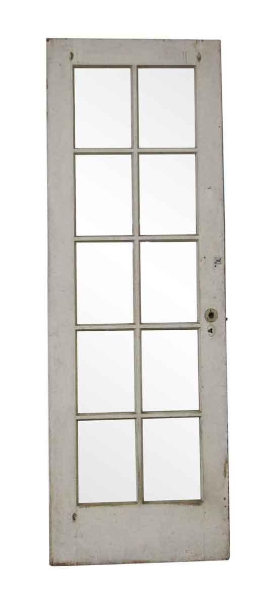 French Doors - Antique 10 Lite Oak French Door 81.625 x 27.875